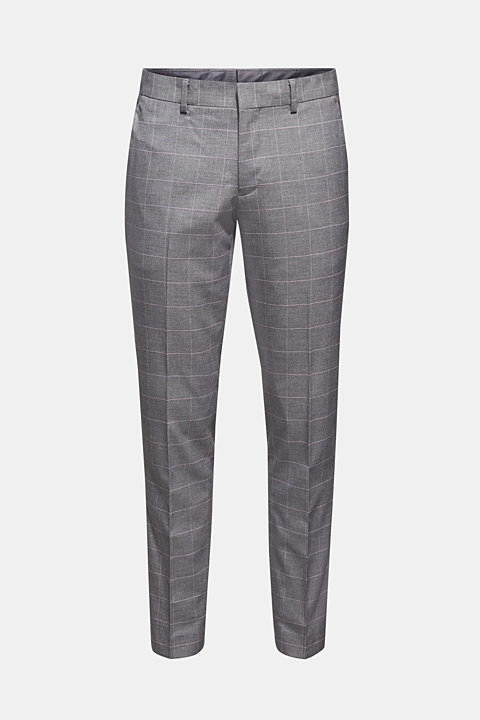 GRID mix + match: Trousers with a grid pattern