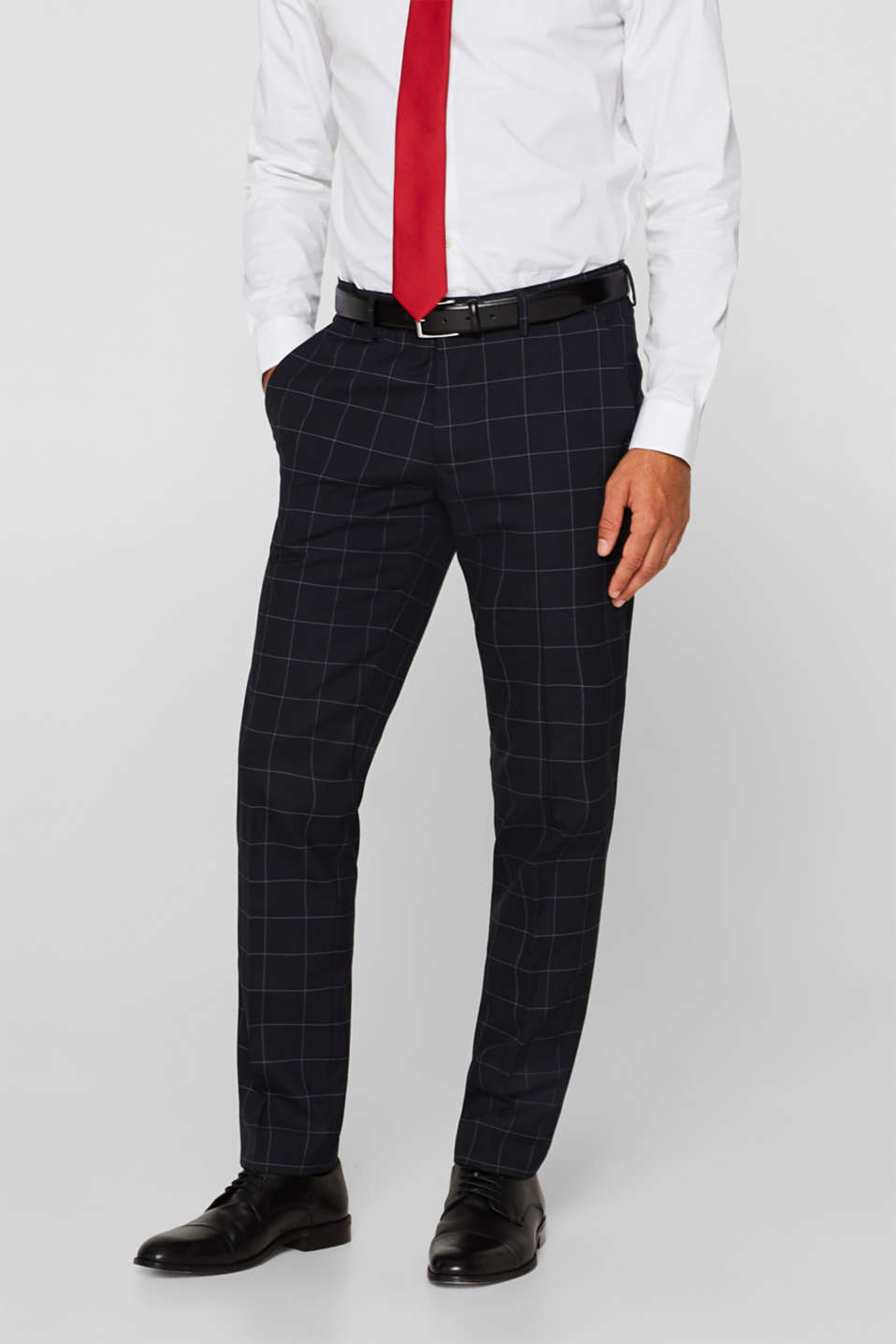 Esprit - GRID mix + match: Trousers with a grid pattern