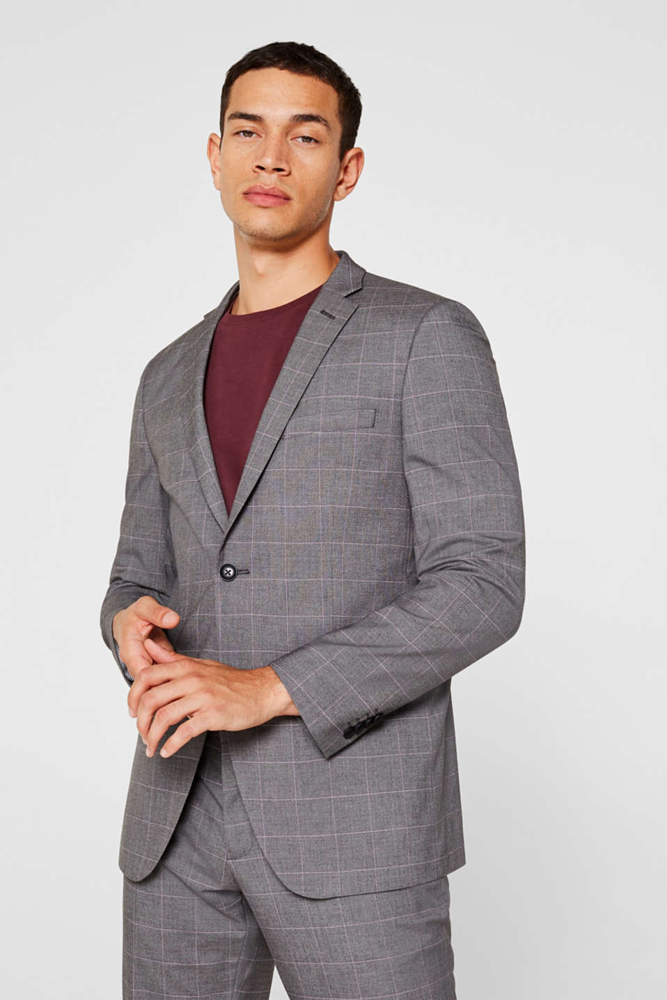 Esprit - GRID mix + match: Jacket with a grid pattern