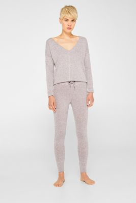 Melange tracksuit bottoms with organic cotton, OLD PINK 2, detail