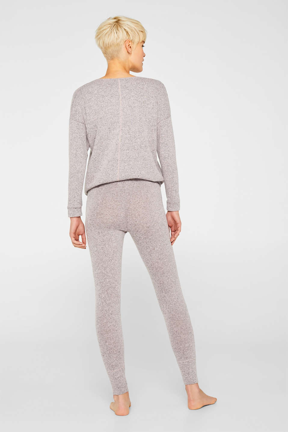 Melange tracksuit bottoms with organic cotton, OLD PINK 2, detail image number 2