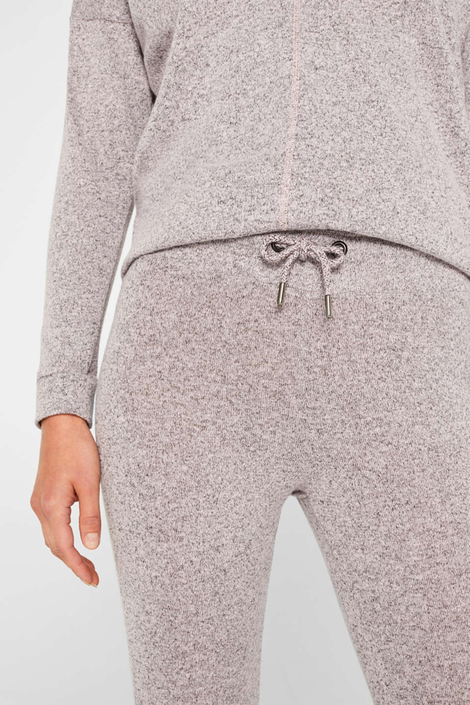 Melange tracksuit bottoms with organic cotton, OLD PINK 2, detail image number 1