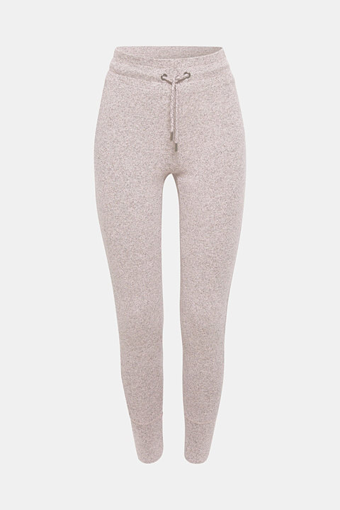 Melange tracksuit bottoms with organic cotton