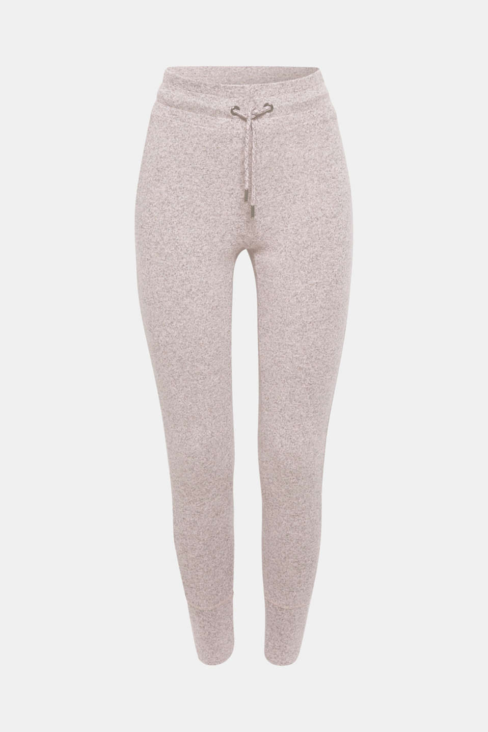 Melange tracksuit bottoms with organic cotton, OLD PINK 2, detail image number 4