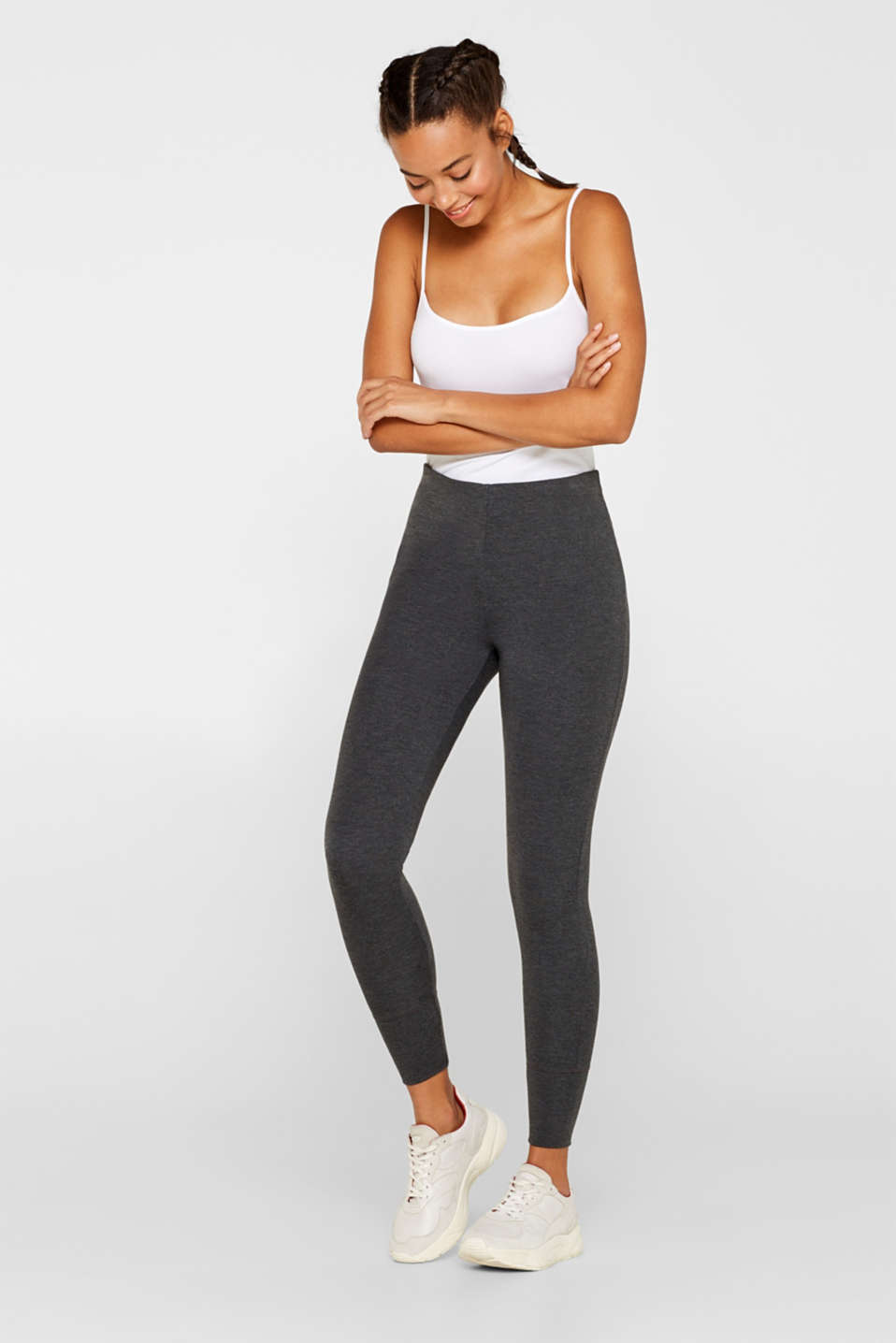 Esprit - Legging met stretch, van modal (TENCEL™)