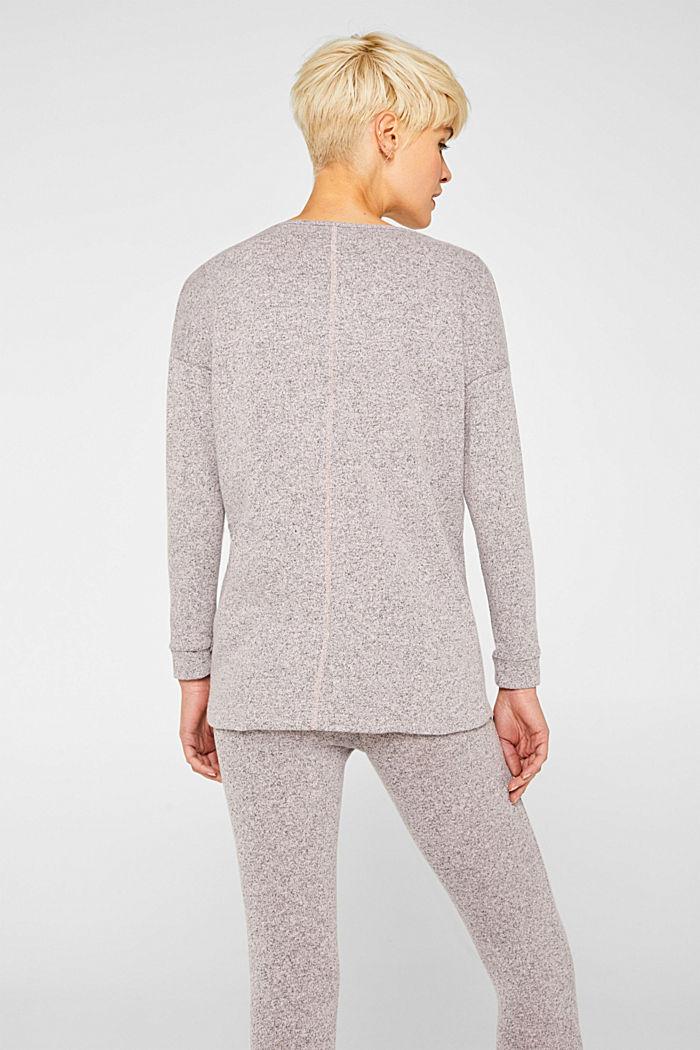 Melange sweatshirt with organic cotton, OLD PINK, detail image number 3