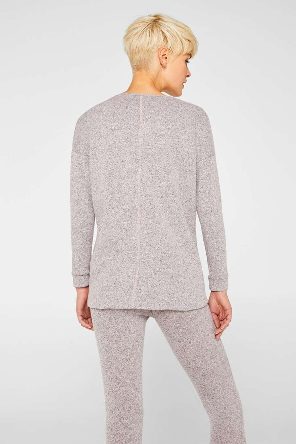 Melange sweatshirt with organic cotton, OLD PINK 2, detail image number 3