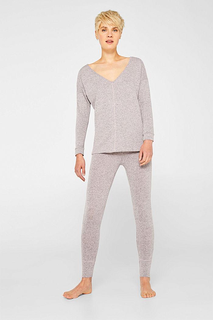 Melange sweatshirt with organic cotton, OLD PINK, detail image number 1