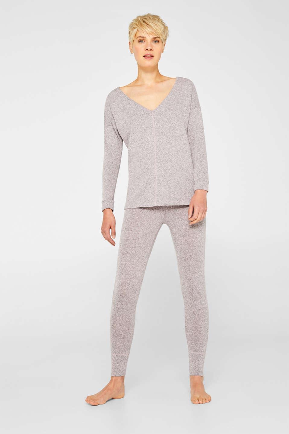Melange sweatshirt with organic cotton, OLD PINK 2, detail image number 1
