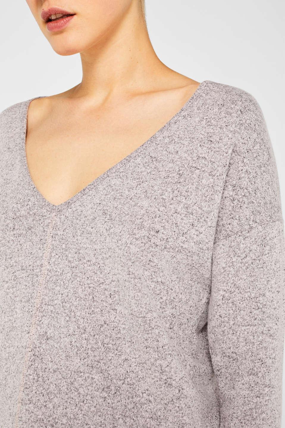 Melange sweatshirt with organic cotton, OLD PINK 2, detail image number 2