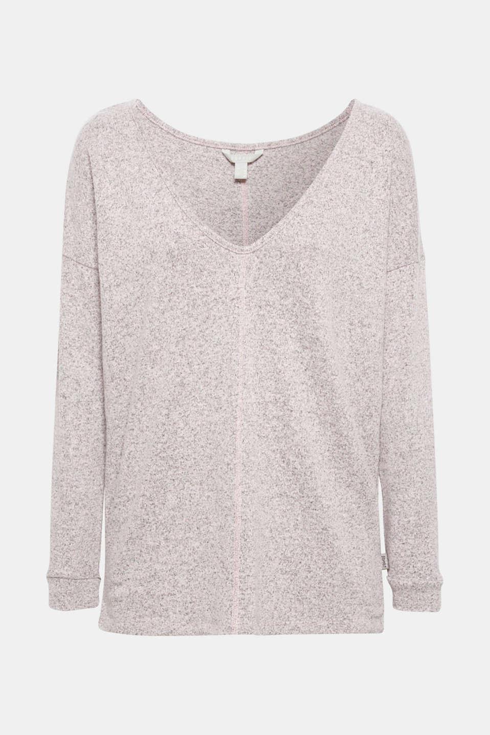 Melange sweatshirt with organic cotton, OLD PINK 2, detail image number 5