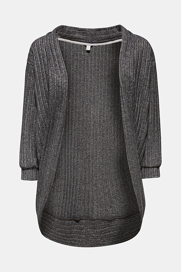 Cardigan in jersey stretch a coste, riciclato