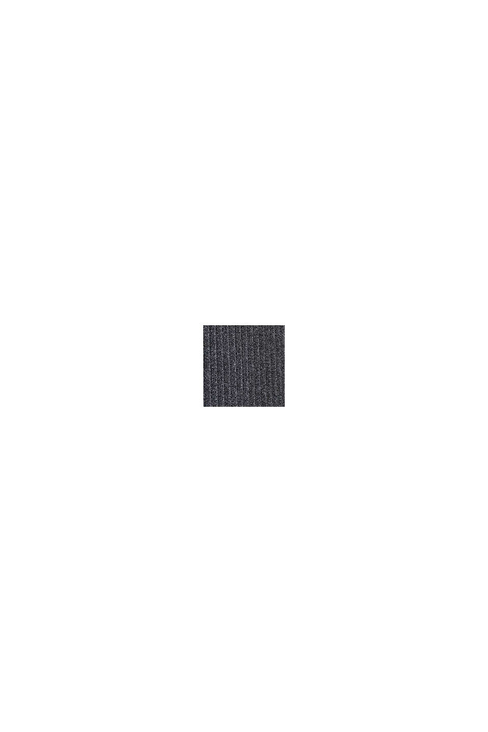Gerippter Jersey-Stretch-Cardigan, recycelt, ANTHRACITE, swatch