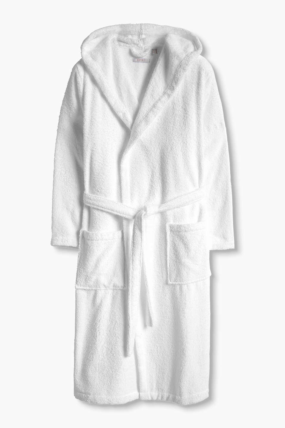 Esprit - Easy unisex bath robe in cotton
