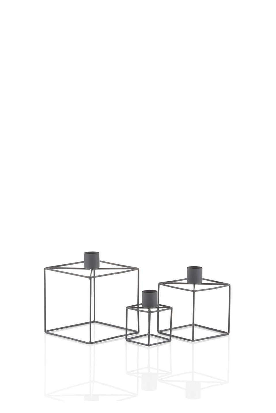 Esprit - 3-piece metal candlestick set