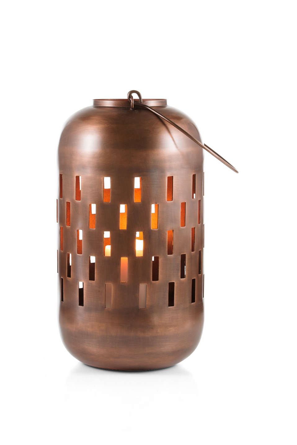Esprit - Metal lantern + handle (approx. 28 cm high)