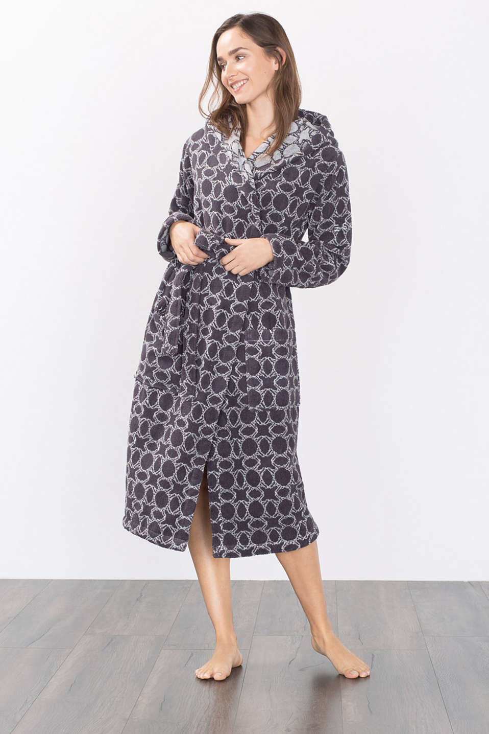 Esprit - Towelling bathrobe in 100% cotton