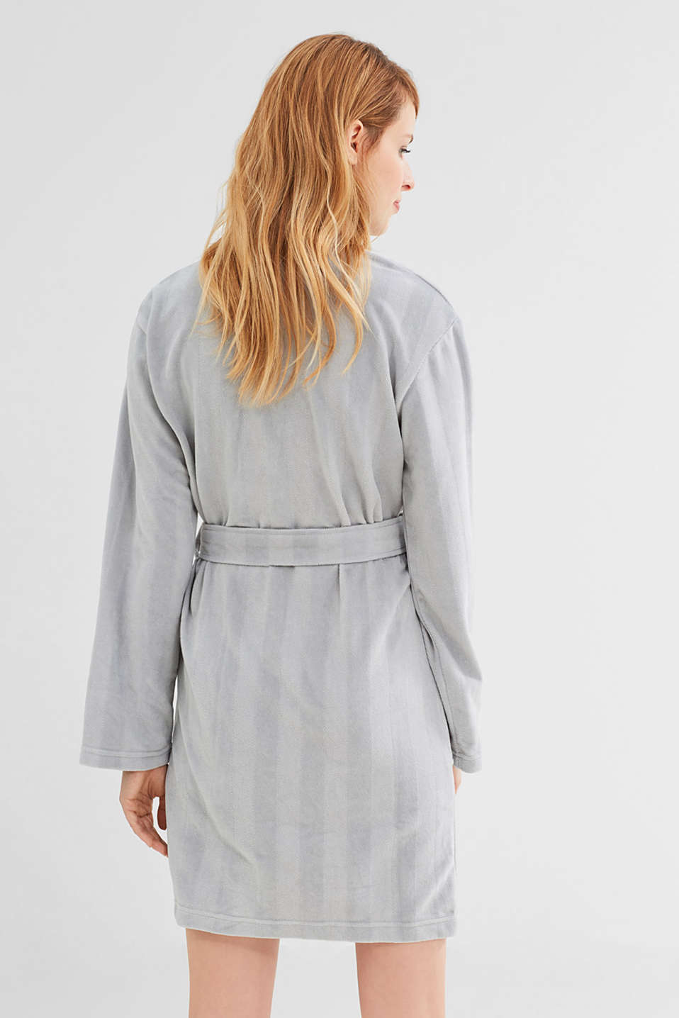 Dinah kimono in blended cotton, GREY, detail image number 4