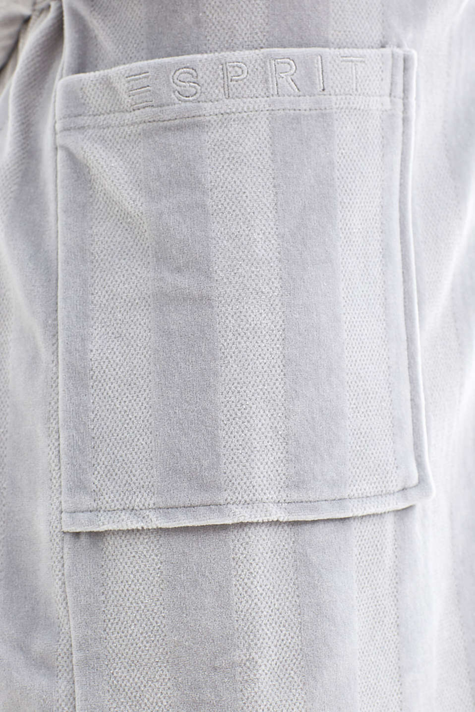 Dinah kimono in blended cotton, GREY, detail image number 3