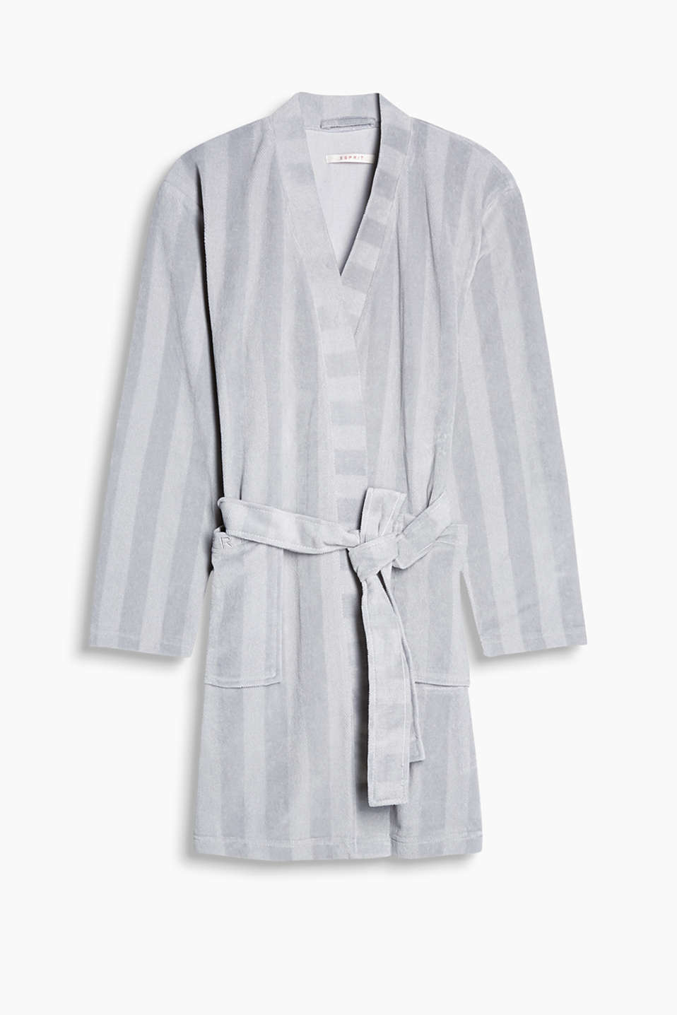 Dinah kimono in blended cotton, GREY, detail image number 5