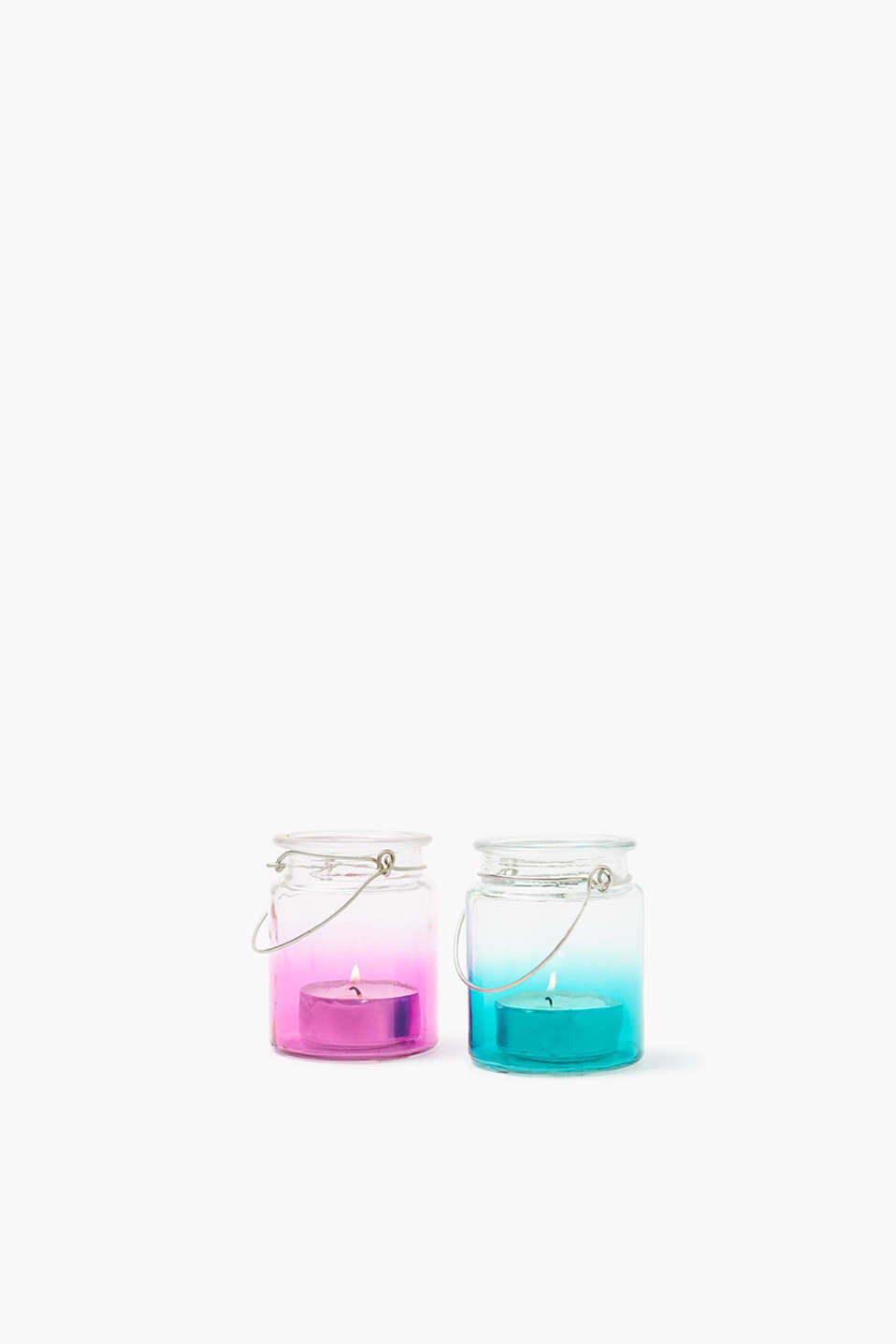 Esprit - Colourful tealight holder, 2-piece set