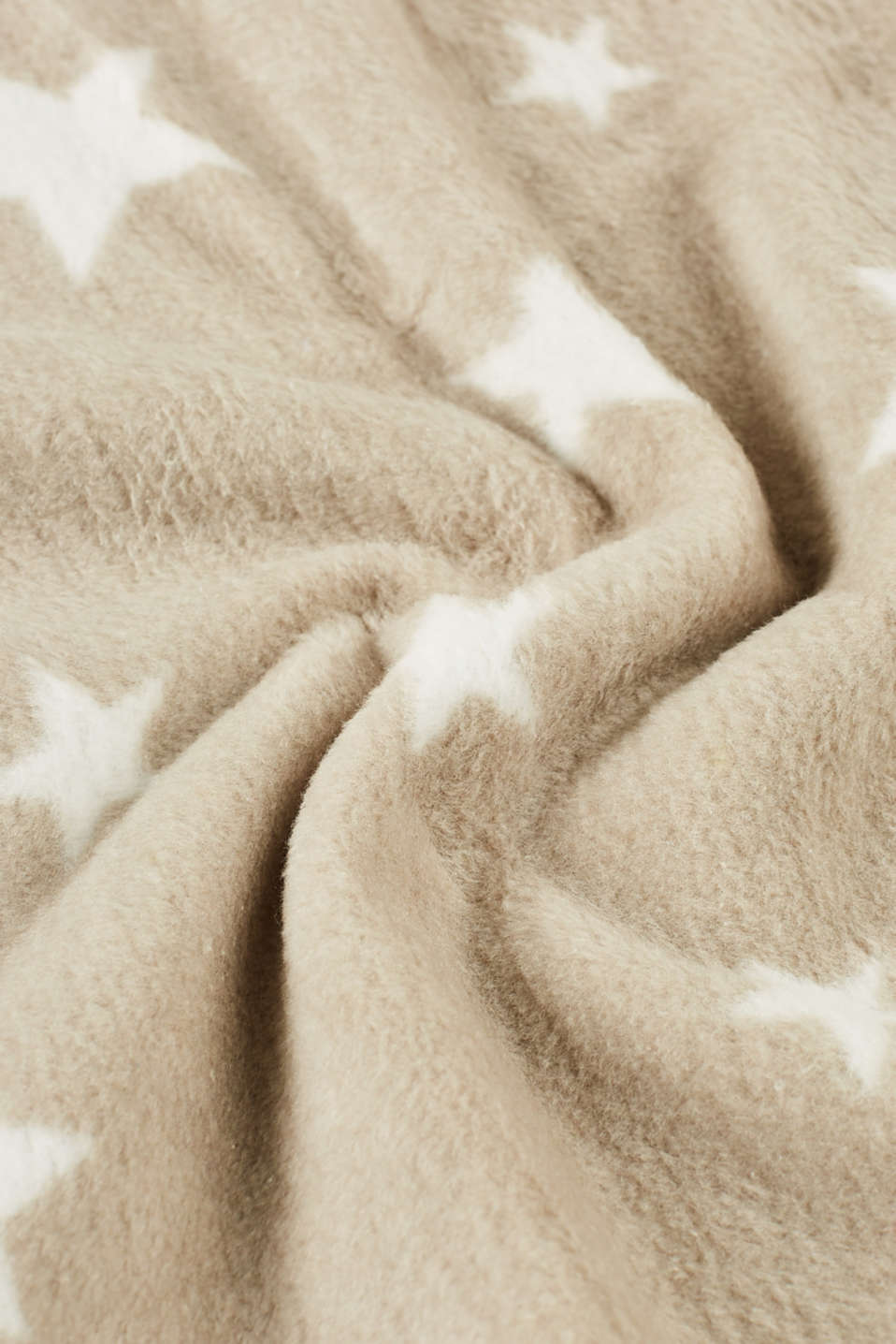 Throw with stars in blended cotton
