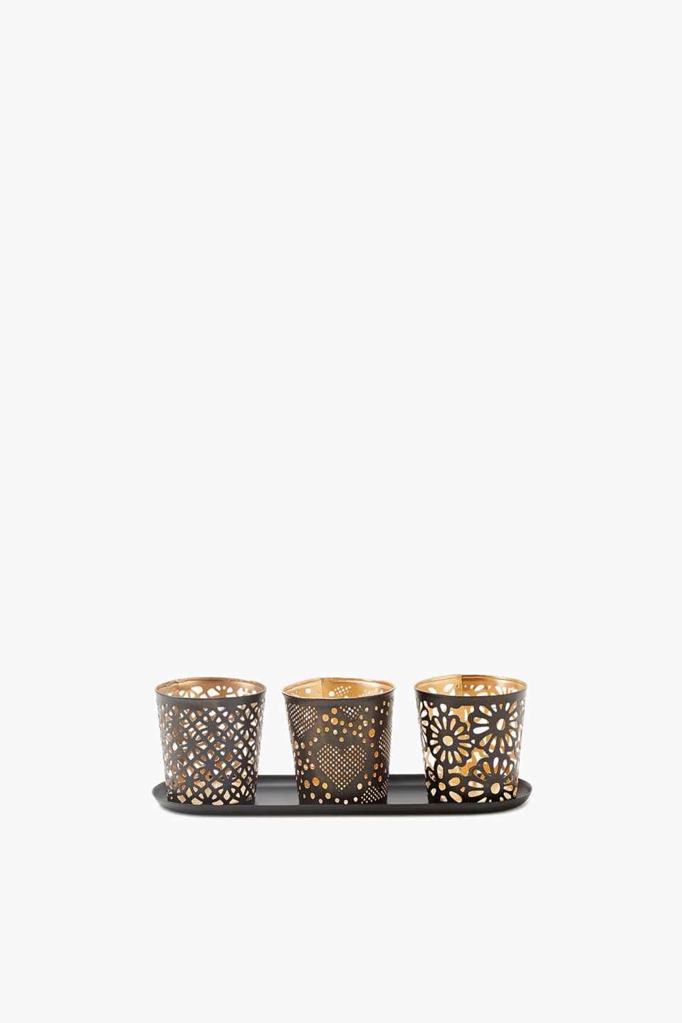 Esprit - Geometric Heart Flower candle holders