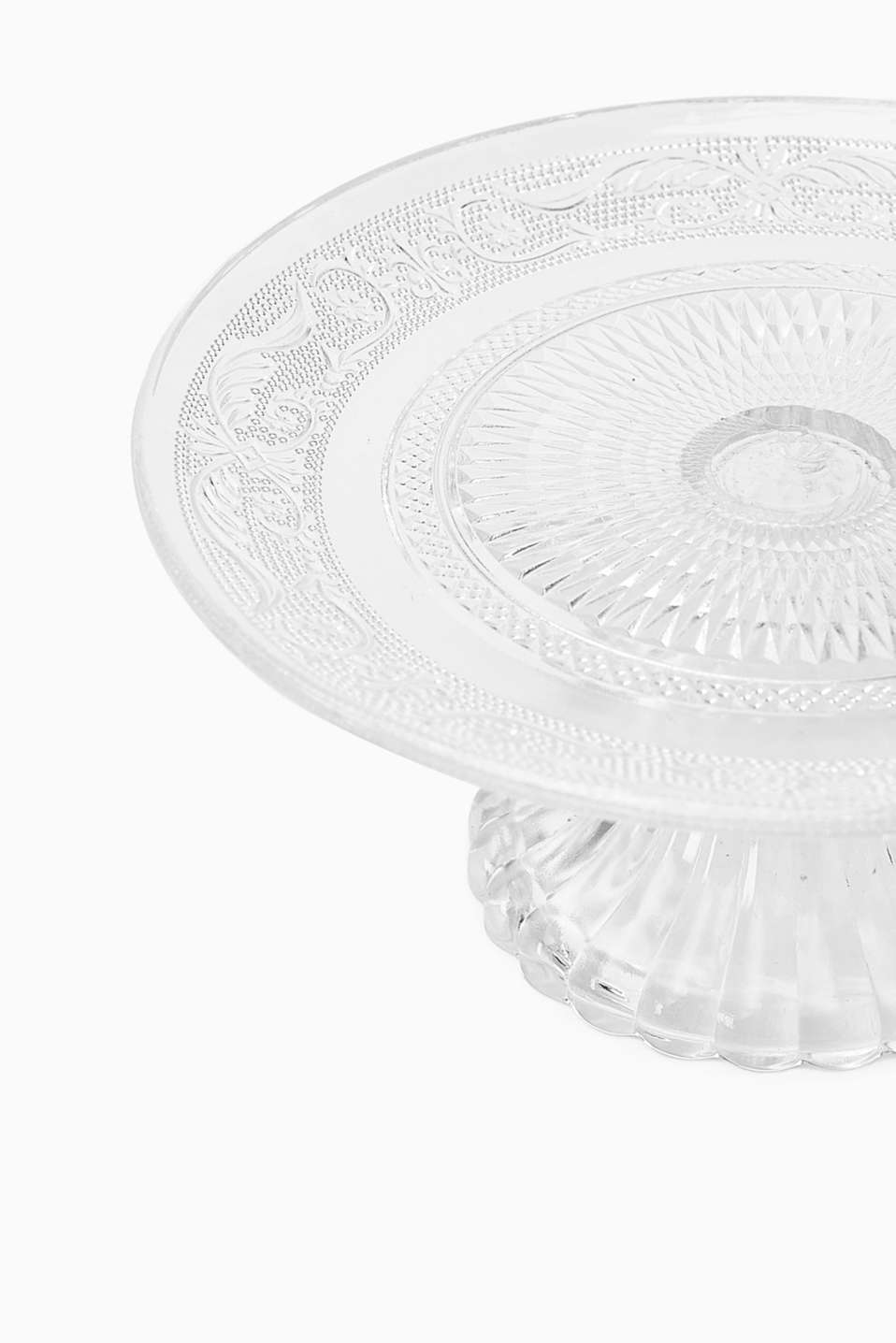 Lesya glass cake stand, TRANSPARENT, detail image number 1