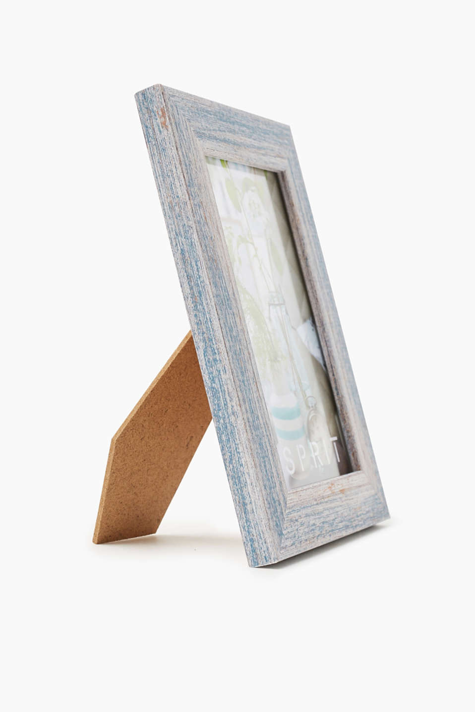 Painted wooden picture frame, BLUE, detail image number 2