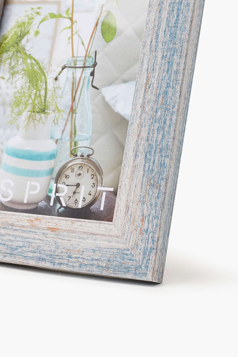 Painted wooden picture frame, BLUE, detail image number 1