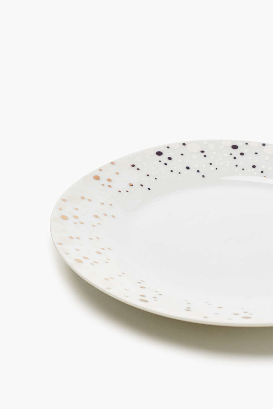 Ceramic plate with polka dots, GOLD, detail image number 2