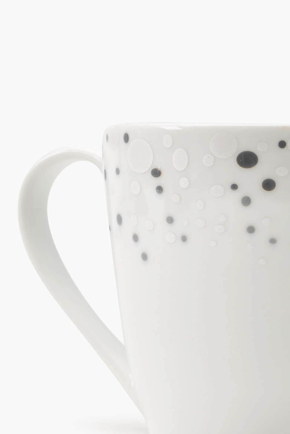 Ceramic mug with polka dots