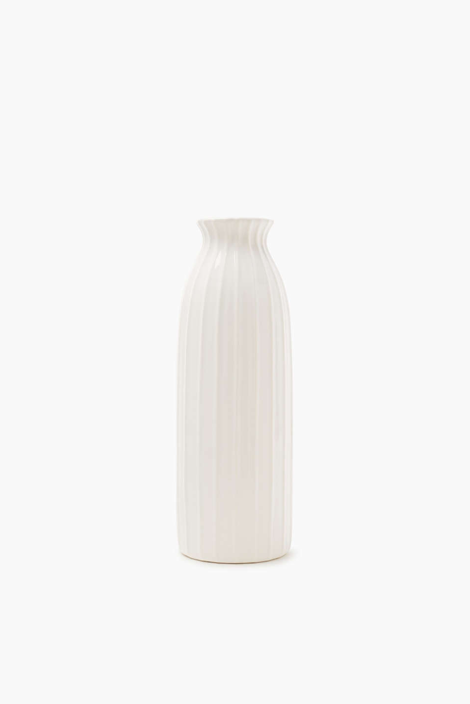 Esprit - Ceramic vase with textured stripes
