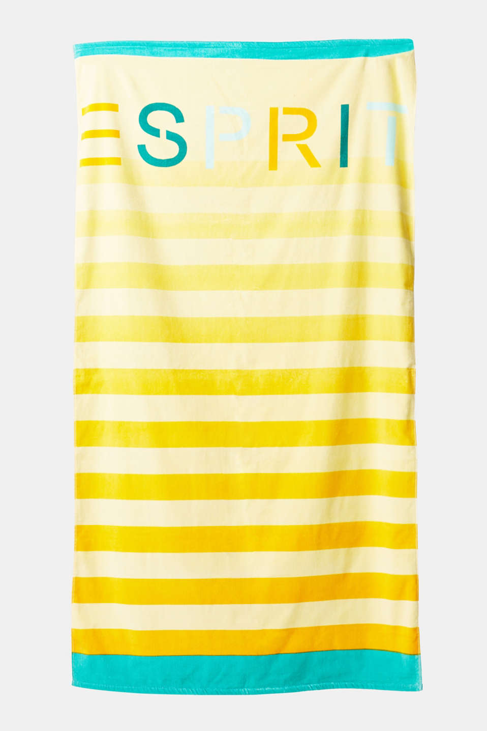 Esprit - Beach towel with logo print, cotton