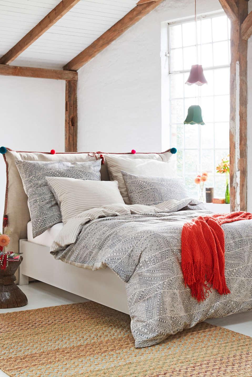 esprit bettw sche mit print aus baumwoll satin im online shop kaufen. Black Bedroom Furniture Sets. Home Design Ideas