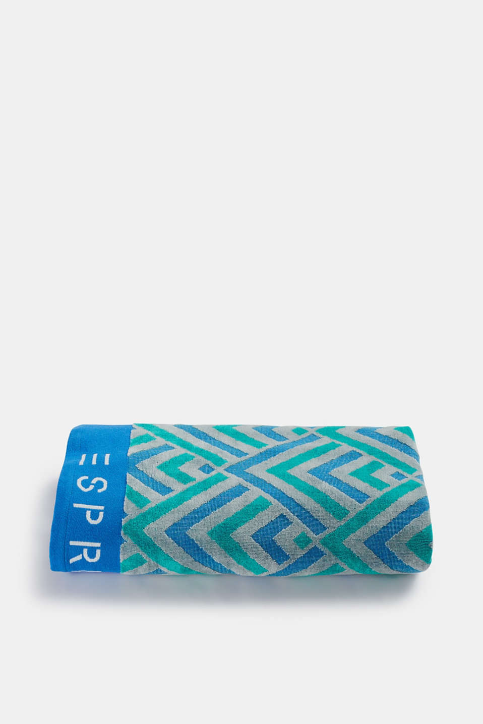 Esprit - Cotton beach towel with a zigzag pattern