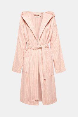 Terrycloth bathrobe in 100% cotton, OATMEAL/DUSTY, detail