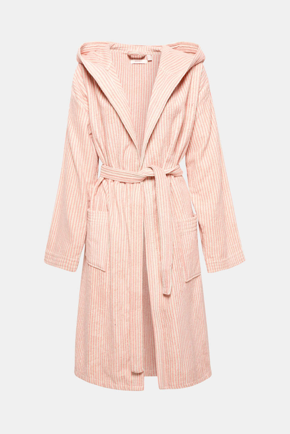 Terrycloth bathrobe in 100% cotton, OATMEAL/DUSTY, detail image number 2