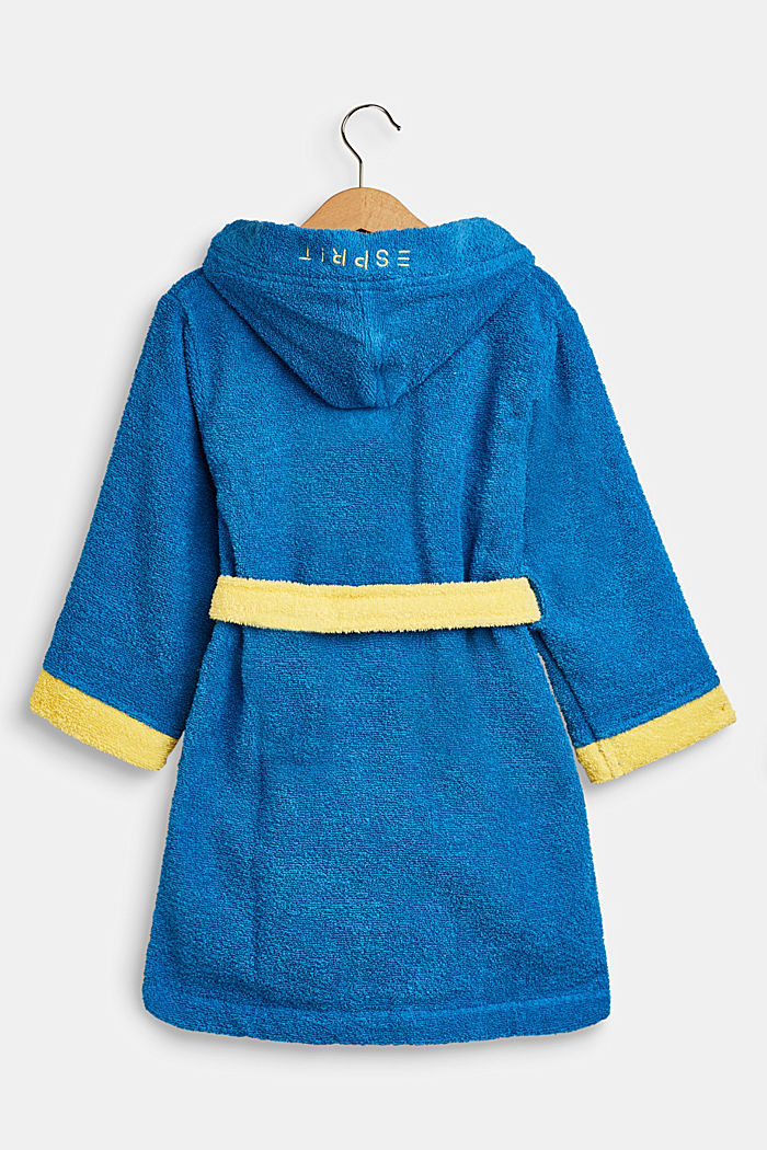 Children's bathrobe in 100% cotton, BLUE/YELLOW, detail image number 1