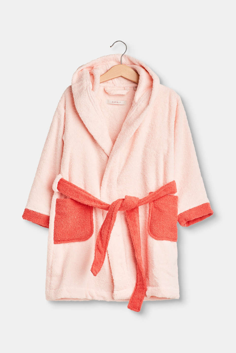CASY collection – contrasting coloured accent and the terrycloth fabric make this bathrobe a favourite piece for wellness.
