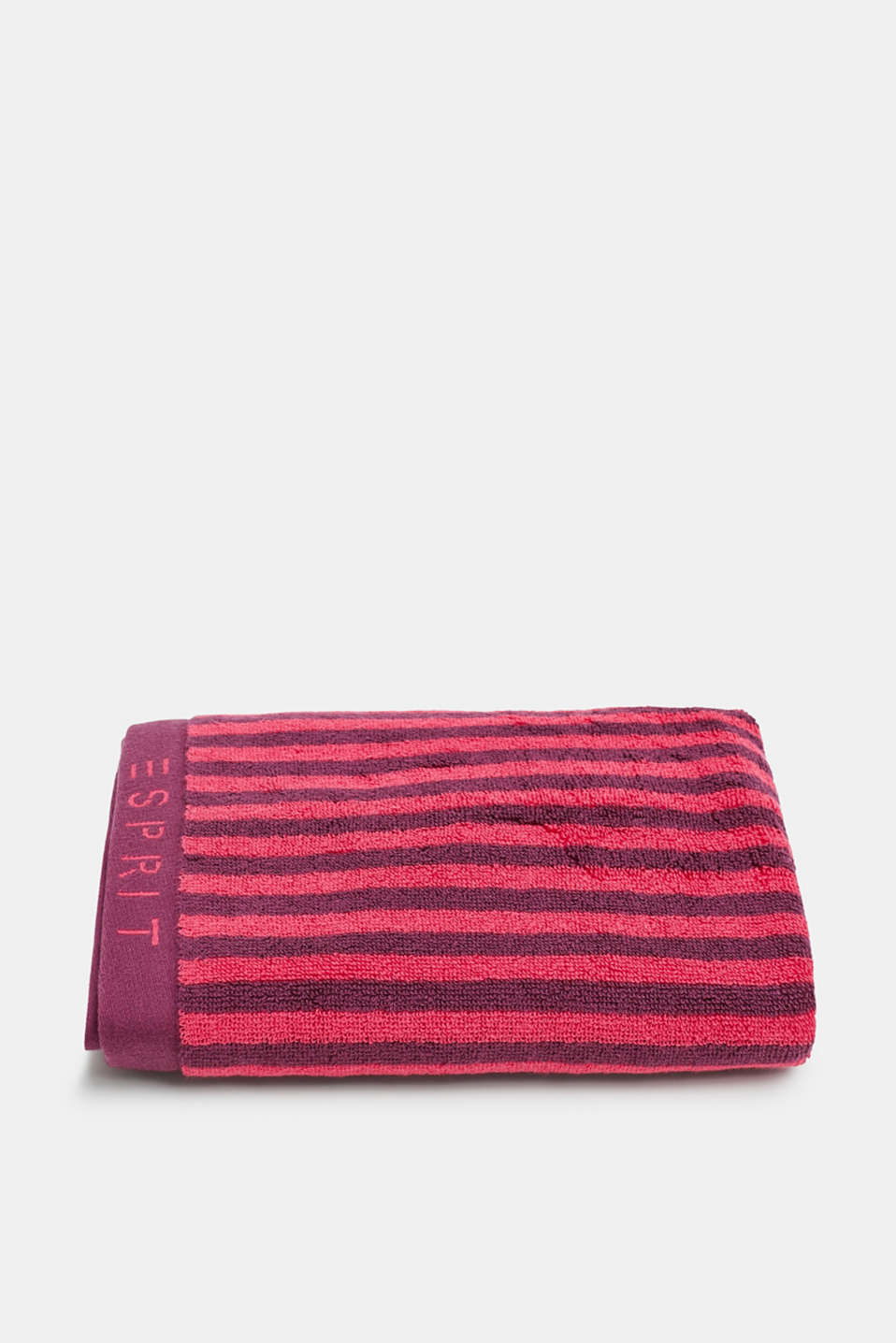 100% cotton hand towel, RASPBERRY, detail image number 0