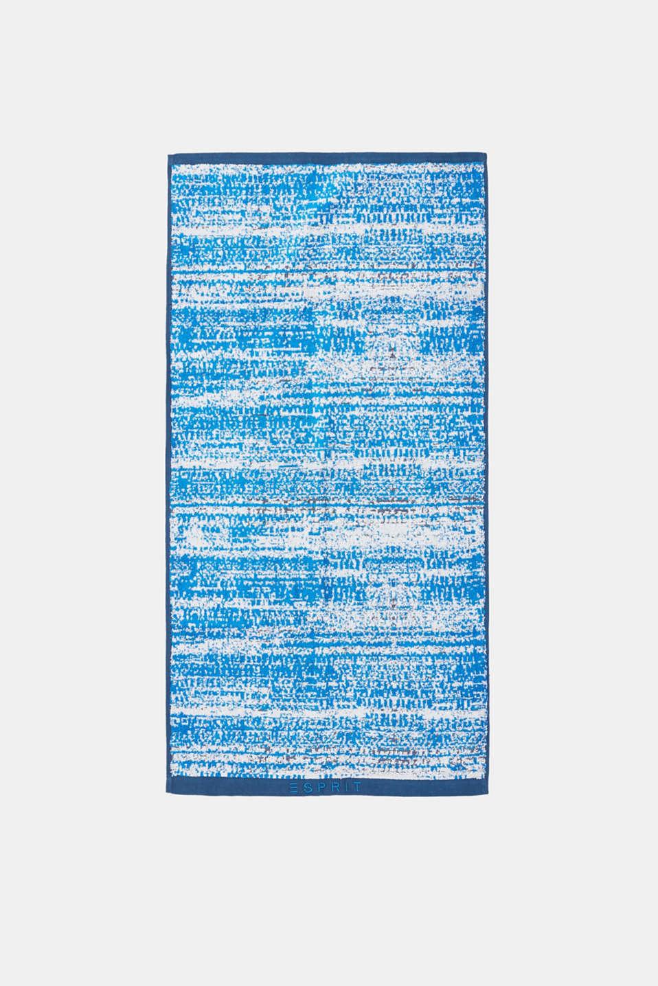 Graduated colour towel, 100% cotton, JEANS/SILVER/ROYAL BLUE, detail image number 3