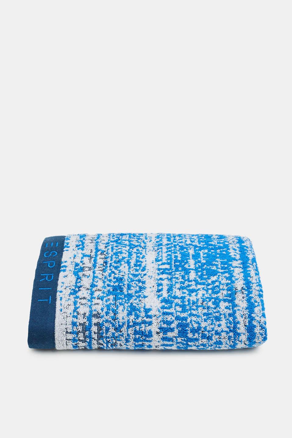 Graduated colour towel, 100% cotton, JEANS/SILVER/ROYAL BLUE, detail image number 2