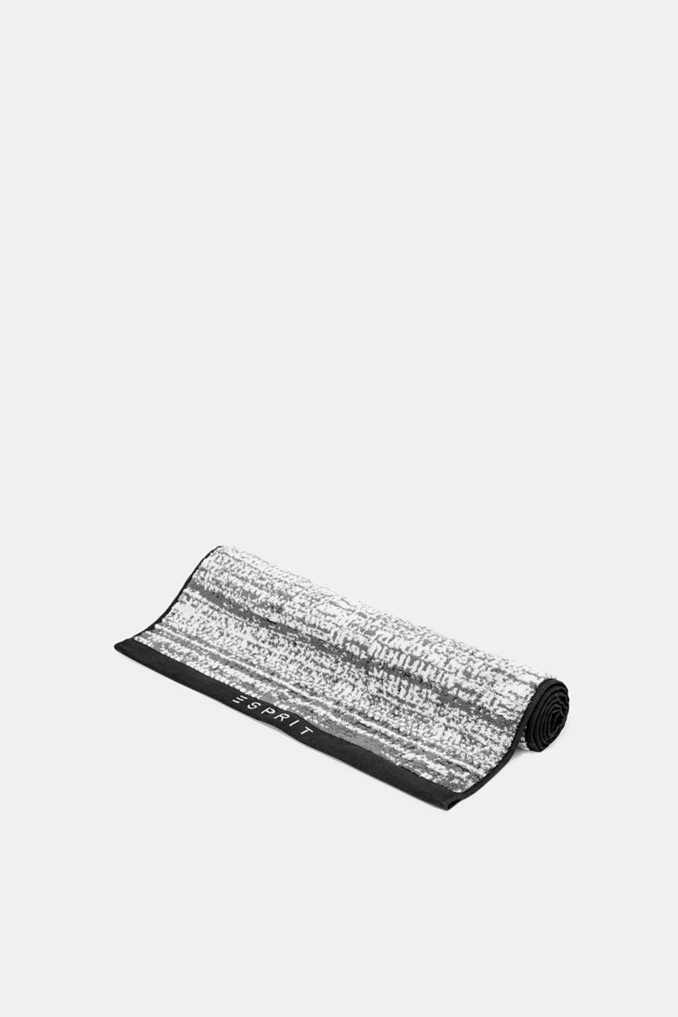 Towelling, BLACK/GREY/SILVER, detail image number 0