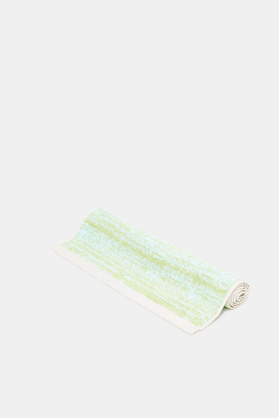 Graduated colour towel, 100% cotton, OATMEAL/LIME/BLUE, detail image number 0