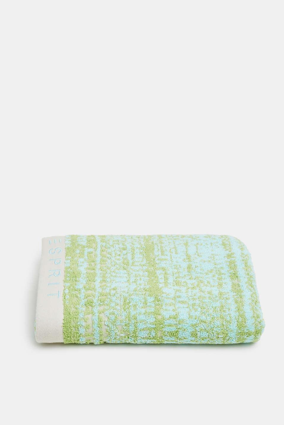 Graduated colour towel, 100% cotton, OATMEAL/LIME/BLUE, detail image number 2