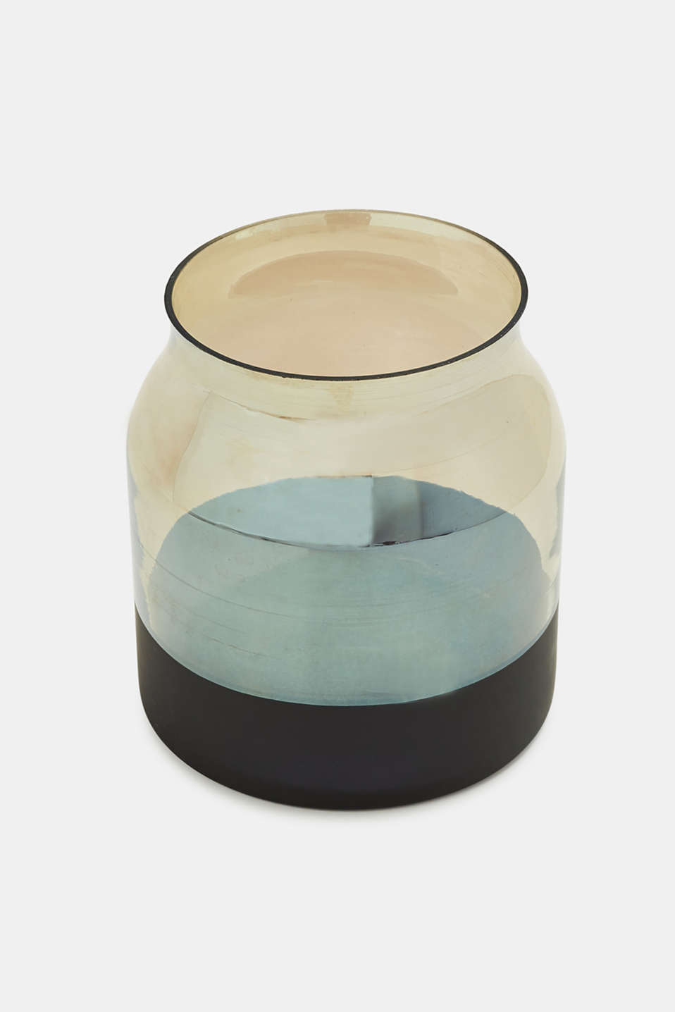 Esprit - Vase made of mirrored smoked glass