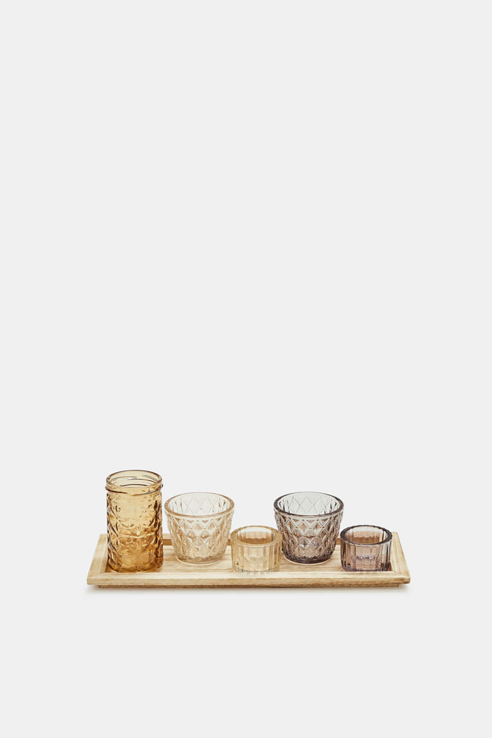 Esprit - Tealight set in wood and glass