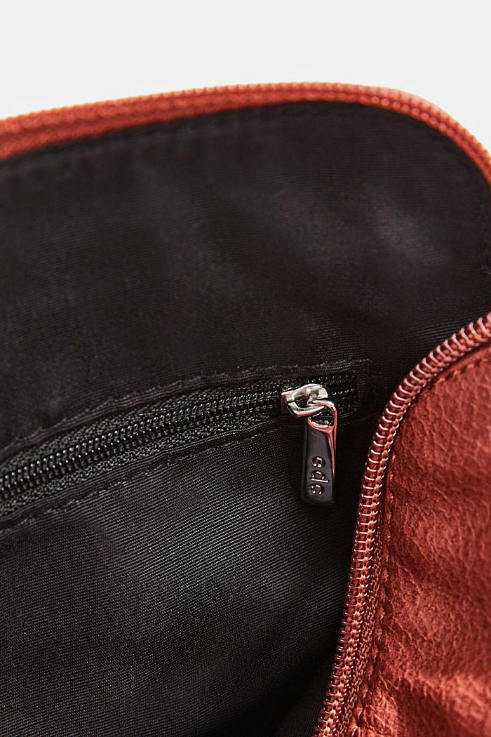Vegan: faux leather shoulder bag, TERRACOTTA, detail image number 4