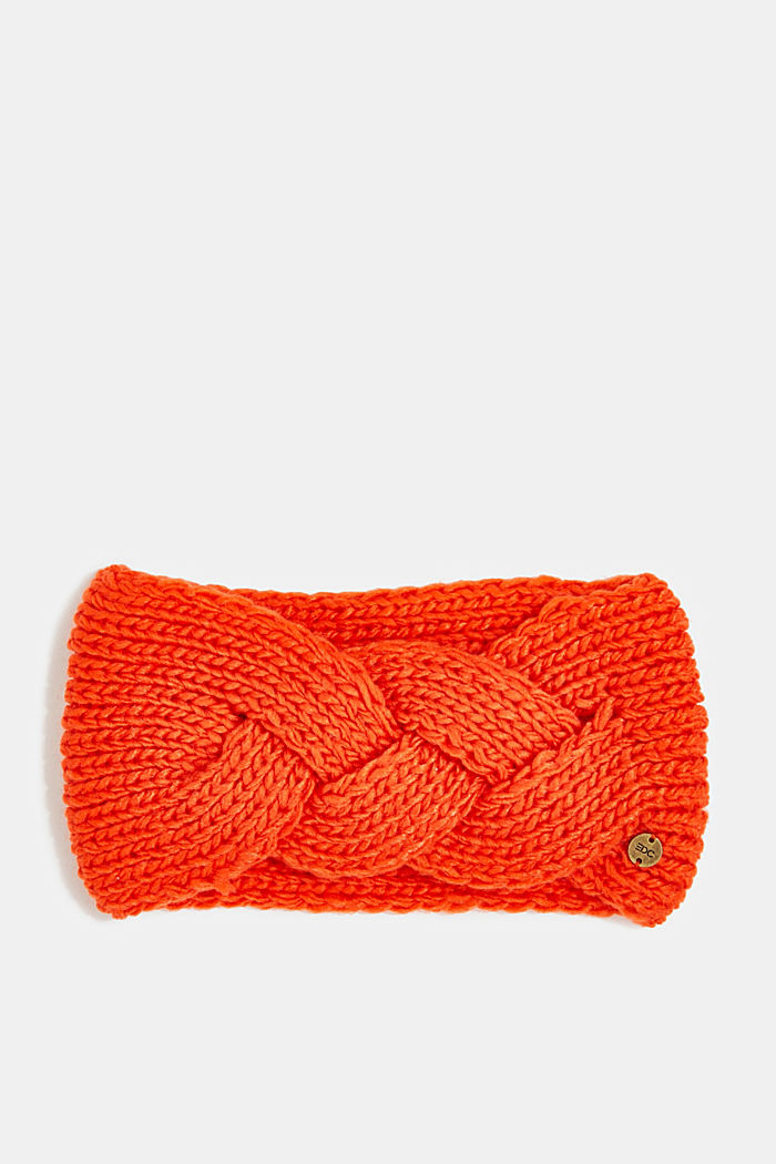 Recycled: headband with a braided detail, ORANGE, detail image number 0